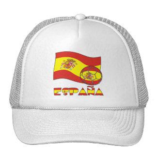Balón de Fútbol y la Bandera Española Cap