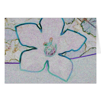 Baloon Flower Note Card