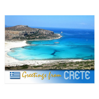 Balos Lagoon Beach, Crete, Greece Postcard