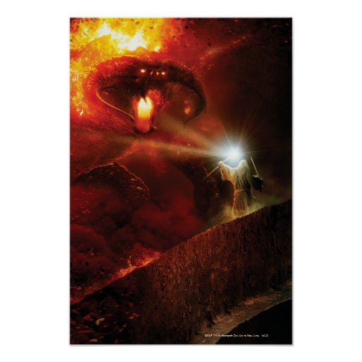 Balrog Versus Gandalf Poster