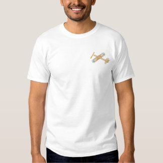 Balsa Wood Airplane Embroidered T-Shirt
