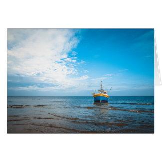 Baltic Fishing Boat Card
