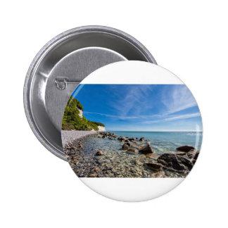 Baltic Sea coast on the island Ruegen 6 Cm Round Badge