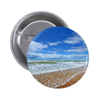 Baltic Sea Shore In Jurkalne 6 Cm Round Badge