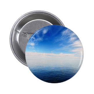 Baltic sea with cloudy Sky 6 Cm Round Badge