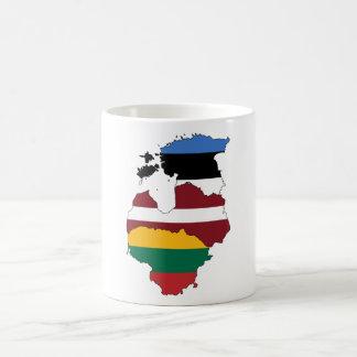 Baltic states basic white mug