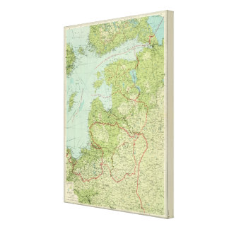 Baltic States & East Prussia Canvas Print