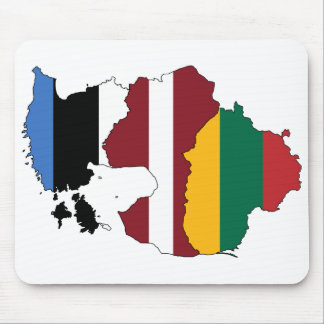 Baltic states mouse pad