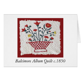 Baltimore Album Quilt c.1850 Greeting Card