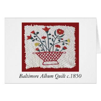 Baltimore Album Quilt c.1850 Greeting Card