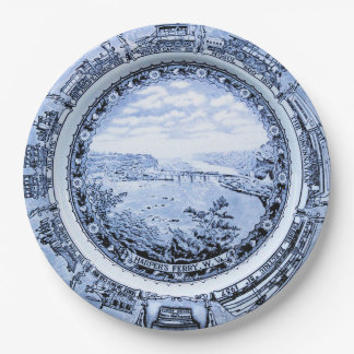 Baltimore and Ohio Vintage Railroad China 9 Inch Paper Plate
