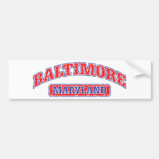 Baltimore Athletic Design Bumper Sticker