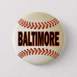 BALTIMORE BASEBALL 6 CM ROUND BADGE