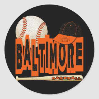 BALTIMORE BASEBALL CLASSIC ROUND STICKER