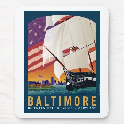 Baltimore: By the Dawn's Early Light Mouse Pads