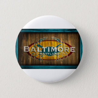 Baltimore Crab 6 Cm Round Badge