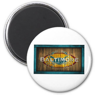 Baltimore Crab 6 Cm Round Magnet