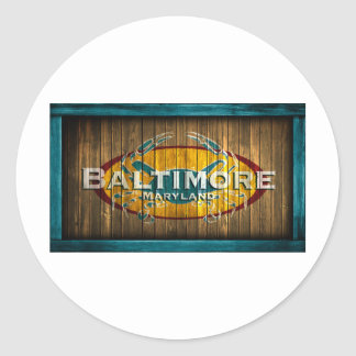 Baltimore Crab Classic Round Sticker