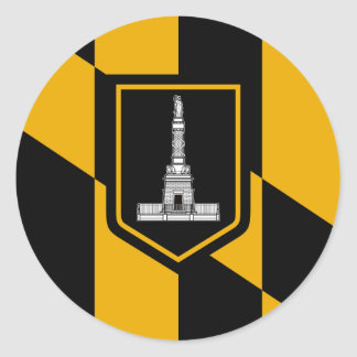 Baltimore Flag Classic Round Sticker