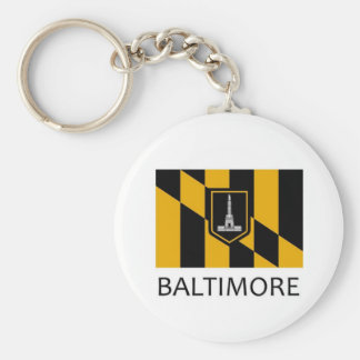 Baltimore Flag Key Ring