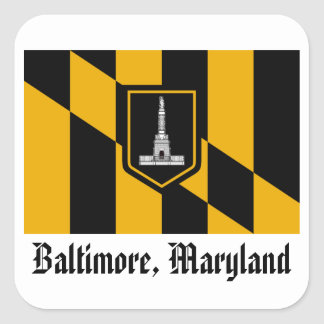 Baltimore Flag Square Sticker