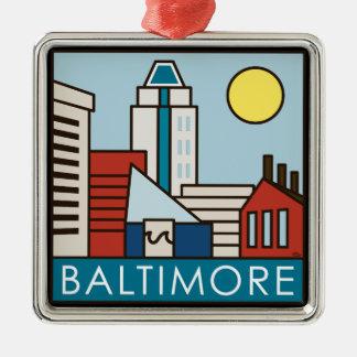 Baltimore Inner Harbor Christmas Ornament