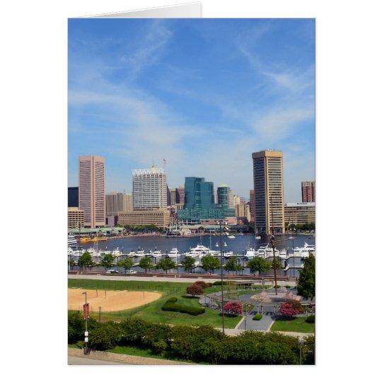 Baltimore Inner Harbour Greeting Card