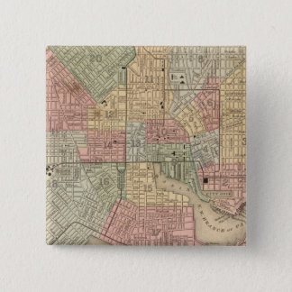 Baltimore Map by Mitchell 15 Cm Square Badge