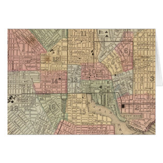 Baltimore Map by Mitchell Card