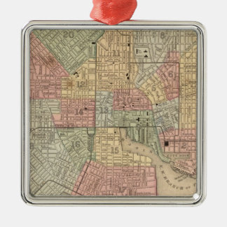 Baltimore Map by Mitchell Christmas Ornament