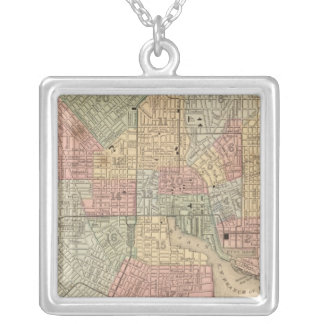 Baltimore Map by Mitchell Silver Plated Necklace