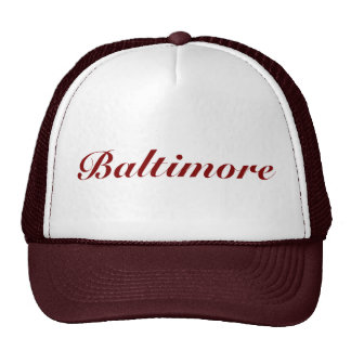 Baltimore Maroon Cap