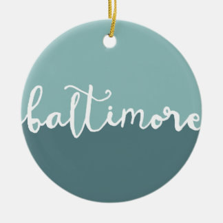 Baltimore, Maryland | Blue Circle Ombre Christmas Ornament