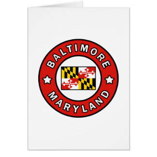 Baltimore Maryland Card