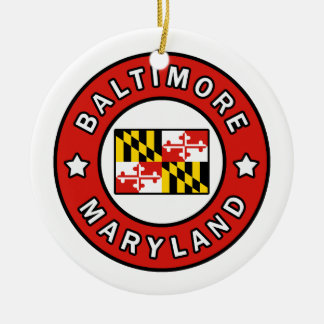 Baltimore Maryland Christmas Ornament