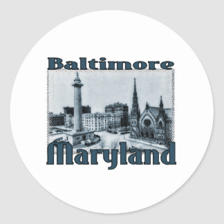 Baltimore, Maryland Classic Round Sticker