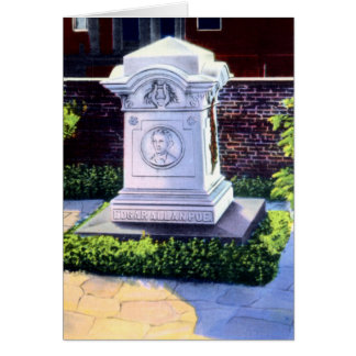 Baltimore Maryland Grave of Edgar Allan Poe Card