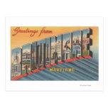 Baltimore, Maryland - Large Letter Scenes 2 Postcards