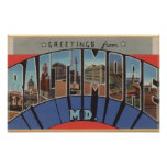 Baltimore, Maryland - Large Letter Scenes 3 Poster
