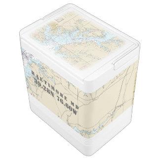 Baltimore Maryland Latitude Longitude Boater's Igloo Cool Box