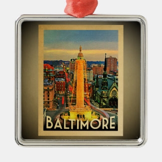 Baltimore Maryland Ornament Vintage Travel