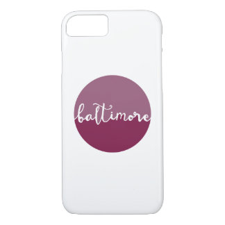 Baltimore, Maryland   purple ombre calligraphy iPhone 7 Case