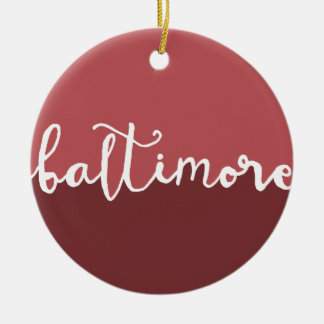 Baltimore, Maryland | Rust Circle Ombre Christmas Ornament