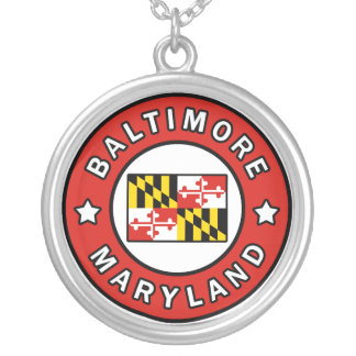 Baltimore Maryland Silver Plated Necklace