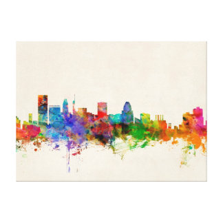 Baltimore Maryland Skyline Cityscape Canvas Print