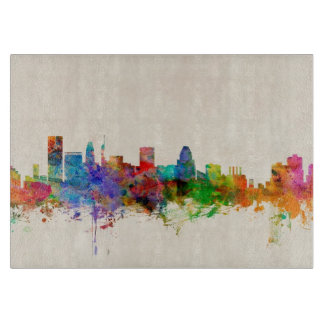 Baltimore Maryland Skyline Cityscape Cutting Board