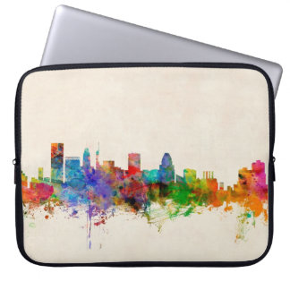Baltimore Maryland Skyline Cityscape Laptop Sleeve