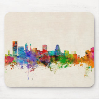 Baltimore Maryland Skyline Cityscape Mouse Mat
