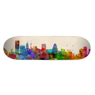 Baltimore Maryland Skyline Cityscape Skateboard Decks
