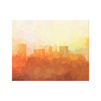 BALTIMORE, MARYLAND SKYLINE In the Clouds-Canvas Canvas Print